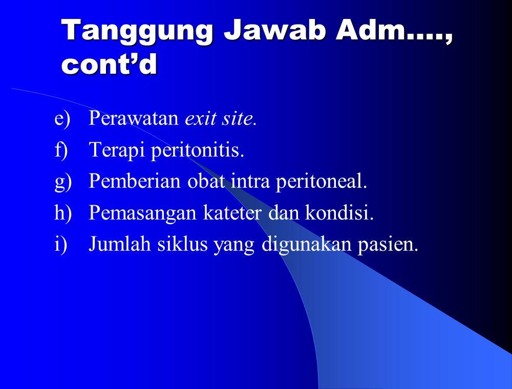 Tanggung Jawab Adm…., cont'd
