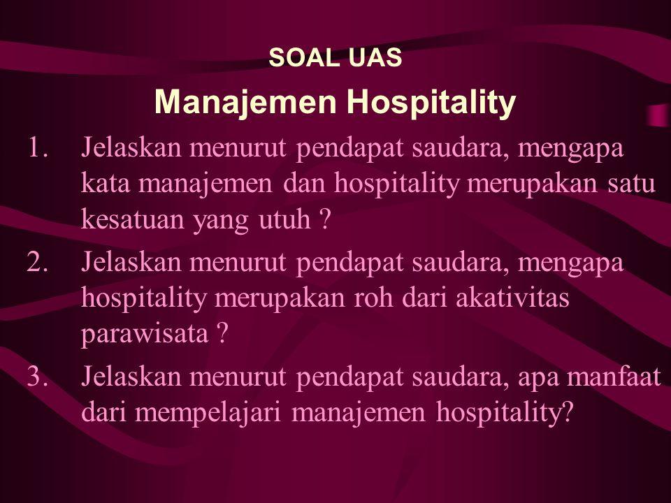 Manajemen Hospitality