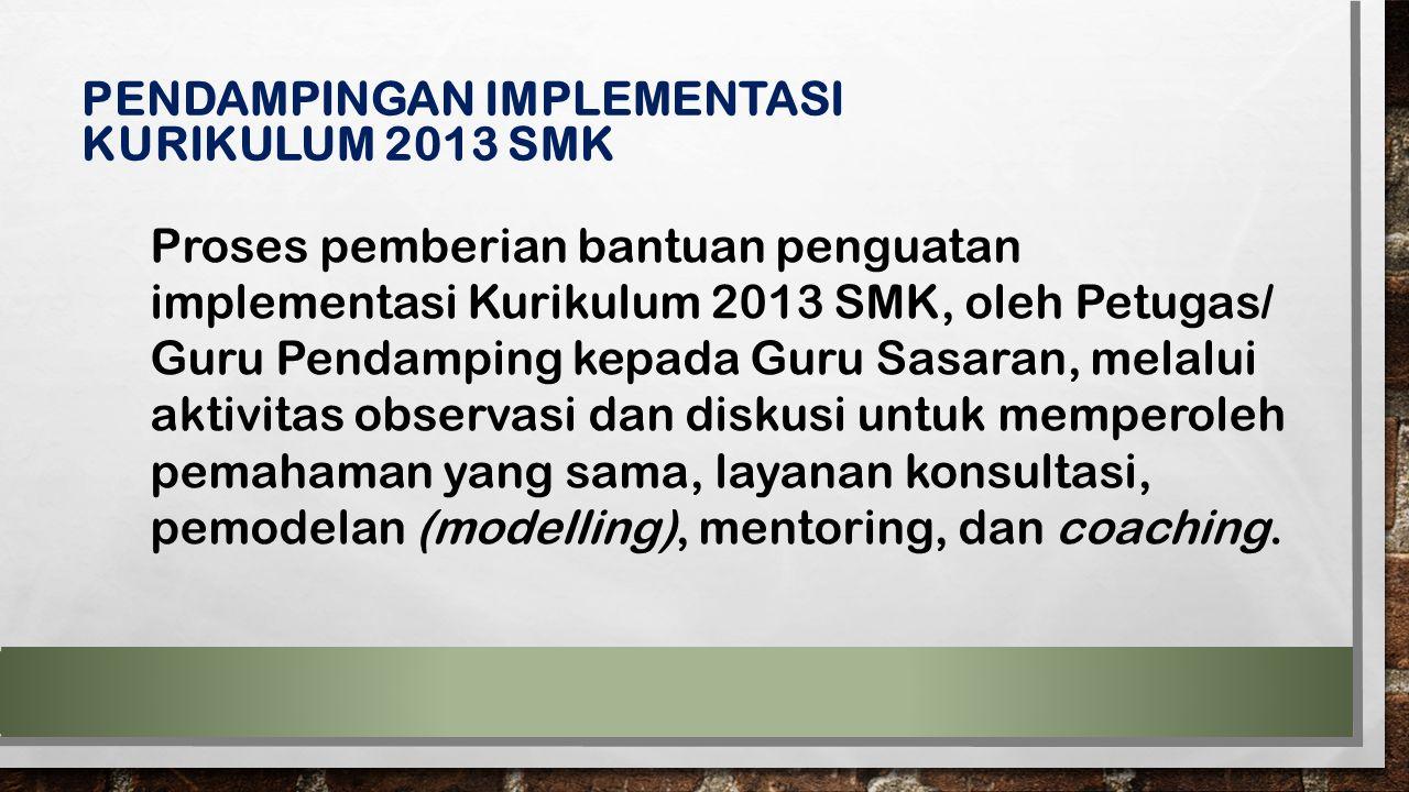 PENDAMPINGAN IMPLEMENTASI KURIKULUM 2013 SMK