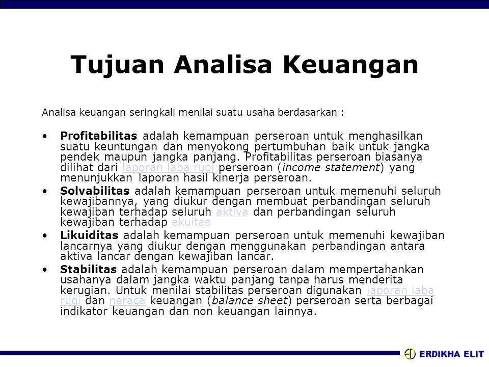 Tujuan Analisa Keuangan