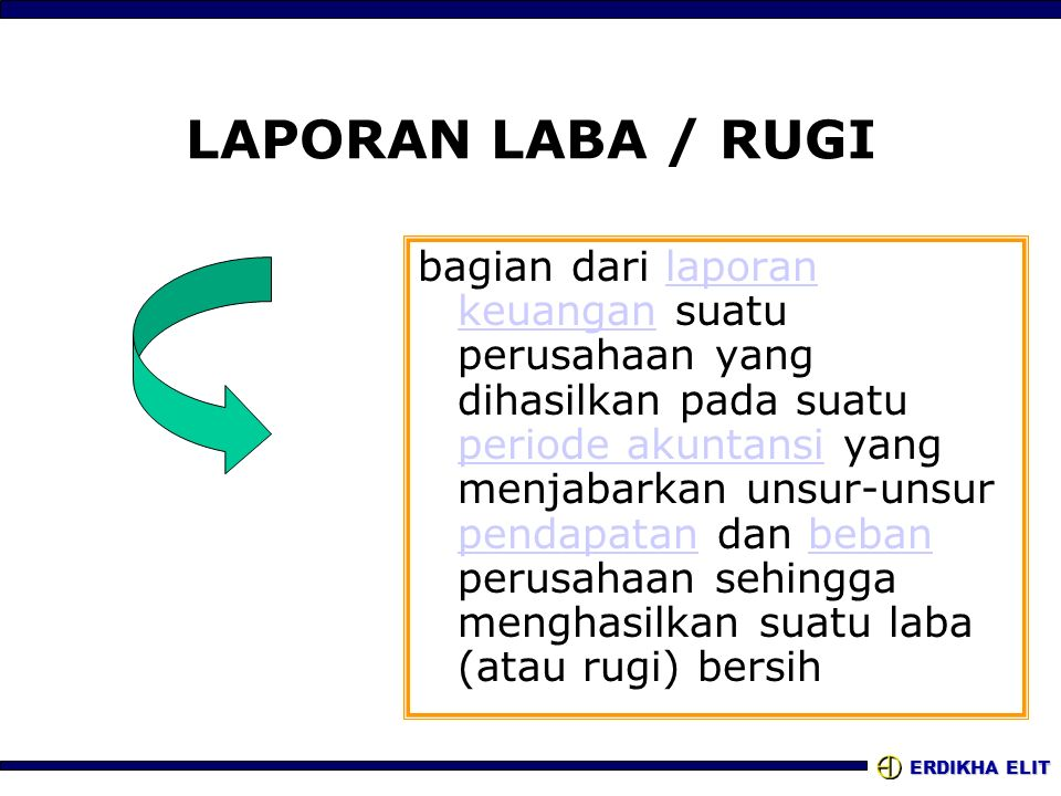 LAPORAN LABA / RUGI