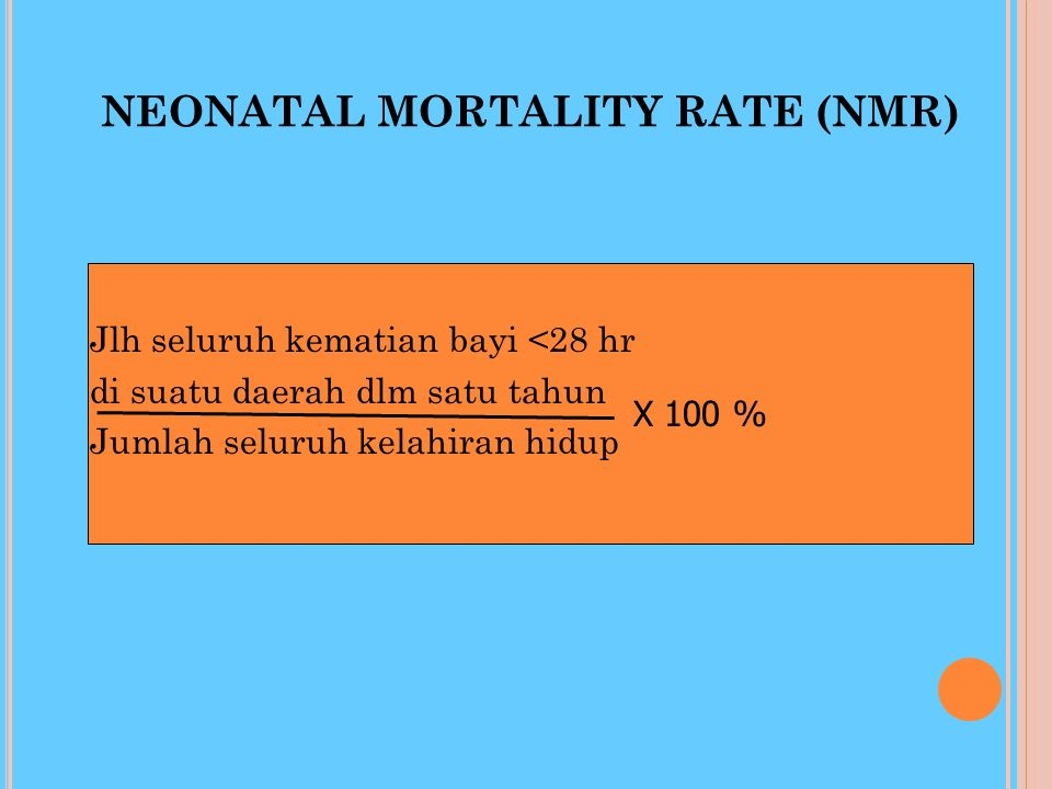NEONATAL MORTALITY RATE (NMR)