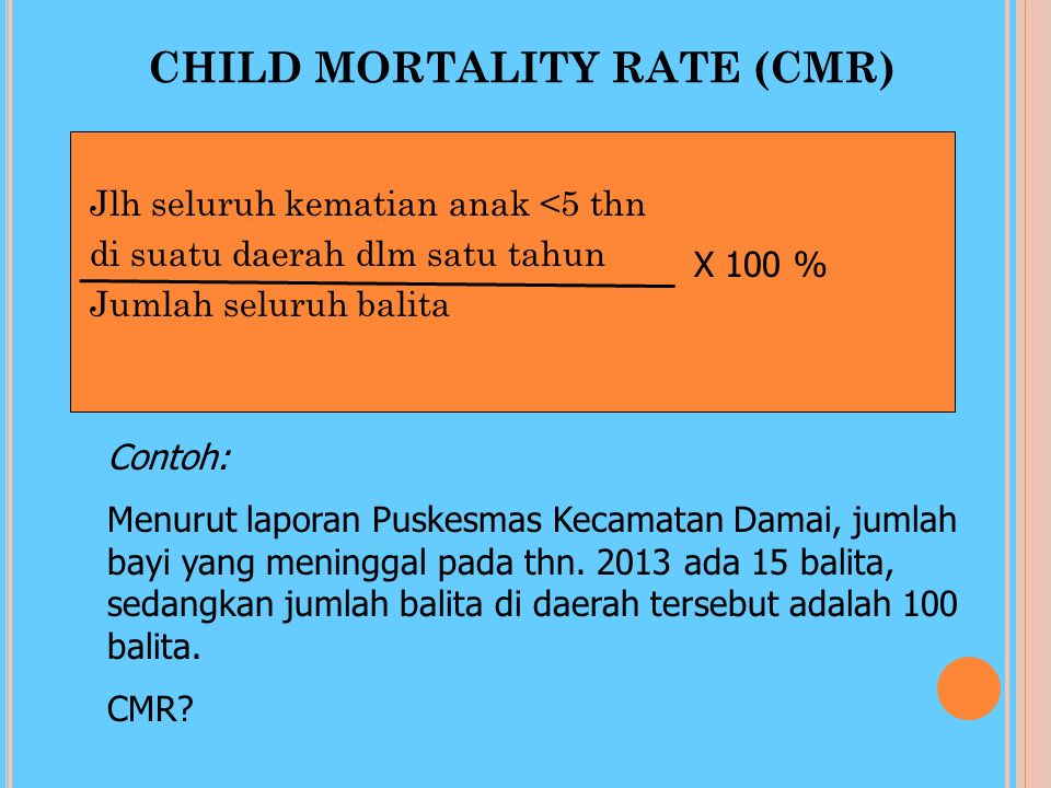 CHILD MORTALITY RATE (CMR)