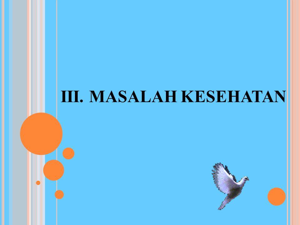 III. MASALAH KESEHATAN