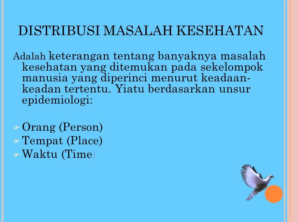 DISTRIBUSI MASALAH KESEHATAN