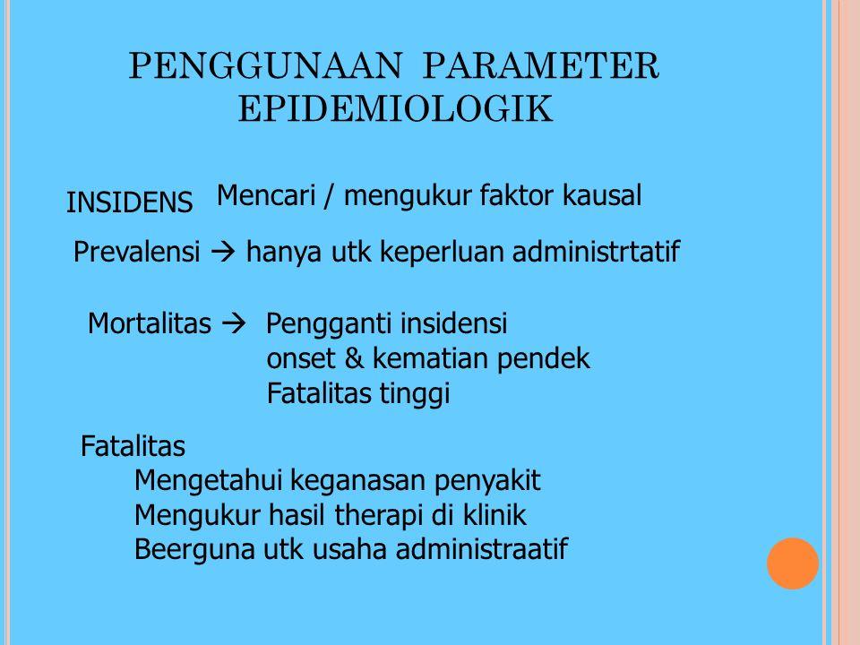 PENGGUNAAN PARAMETER EPIDEMIOLOGIK