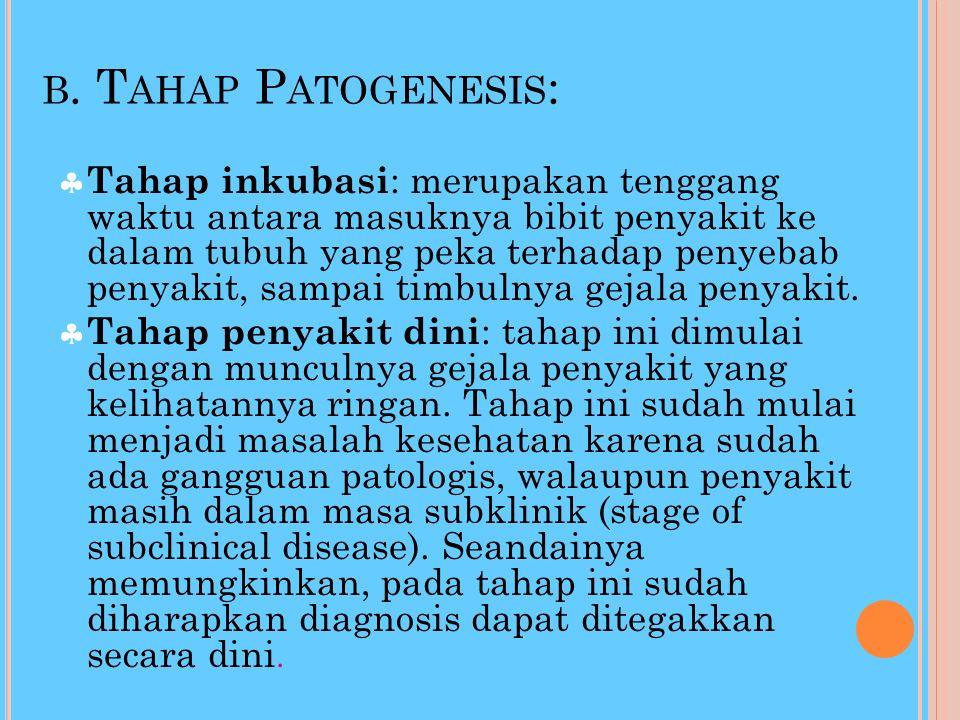 b. Tahap Patogenesis: