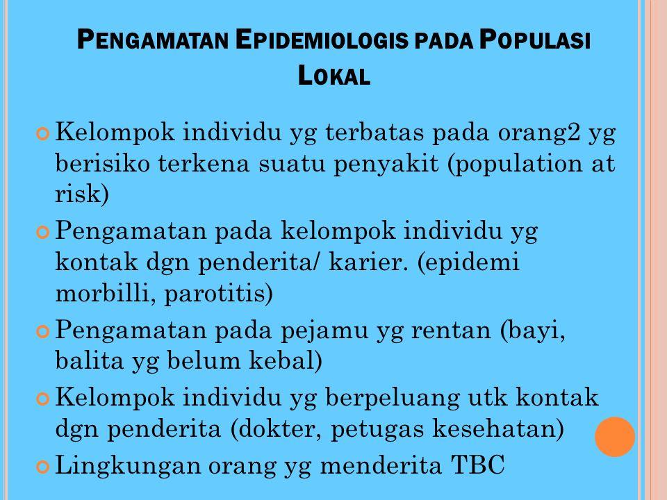 Pengamatan Epidemiologis pada Populasi Lokal