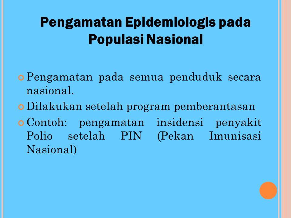 Pengamatan Epidemiologis pada Populasi Nasional