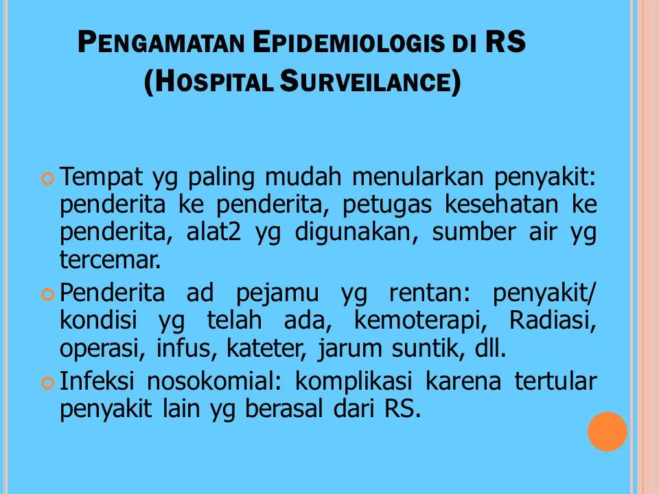 Pengamatan Epidemiologis di RS (Hospital Surveilance)