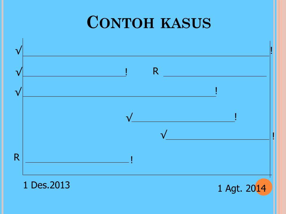 Contoh kasus R 1 Des.2013 √ ! 1 Agt. 2014