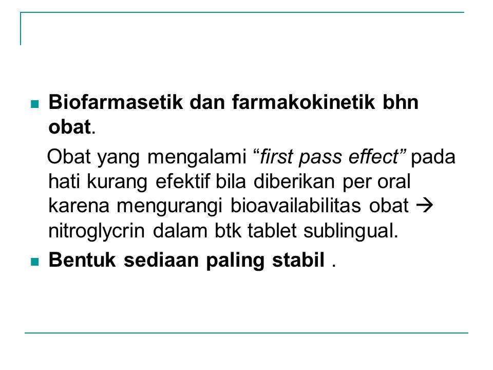 Biofarmasetik dan farmakokinetik bhn obat.