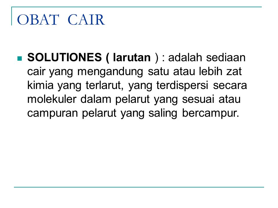 OBAT CAIR