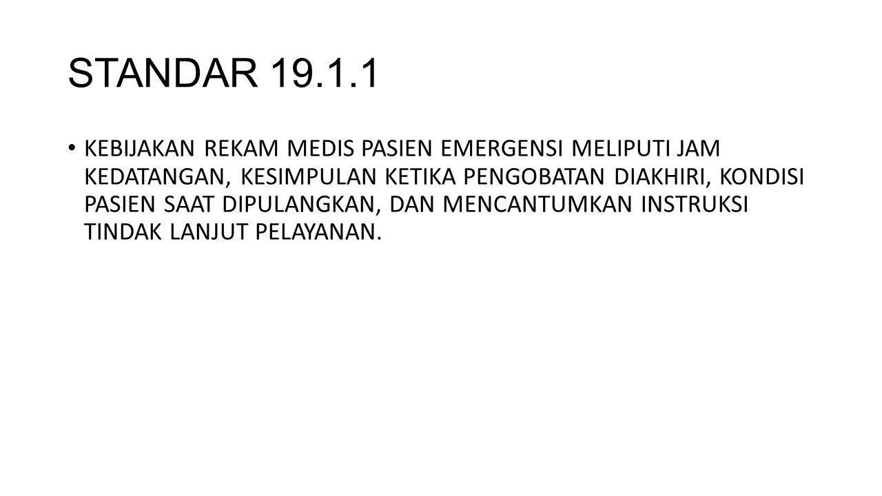 STANDAR 19.1.1
