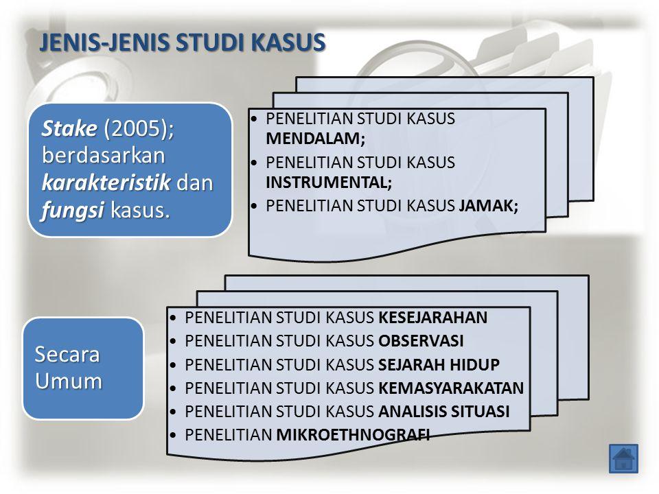 JENIS-JENIS STUDI KASUS