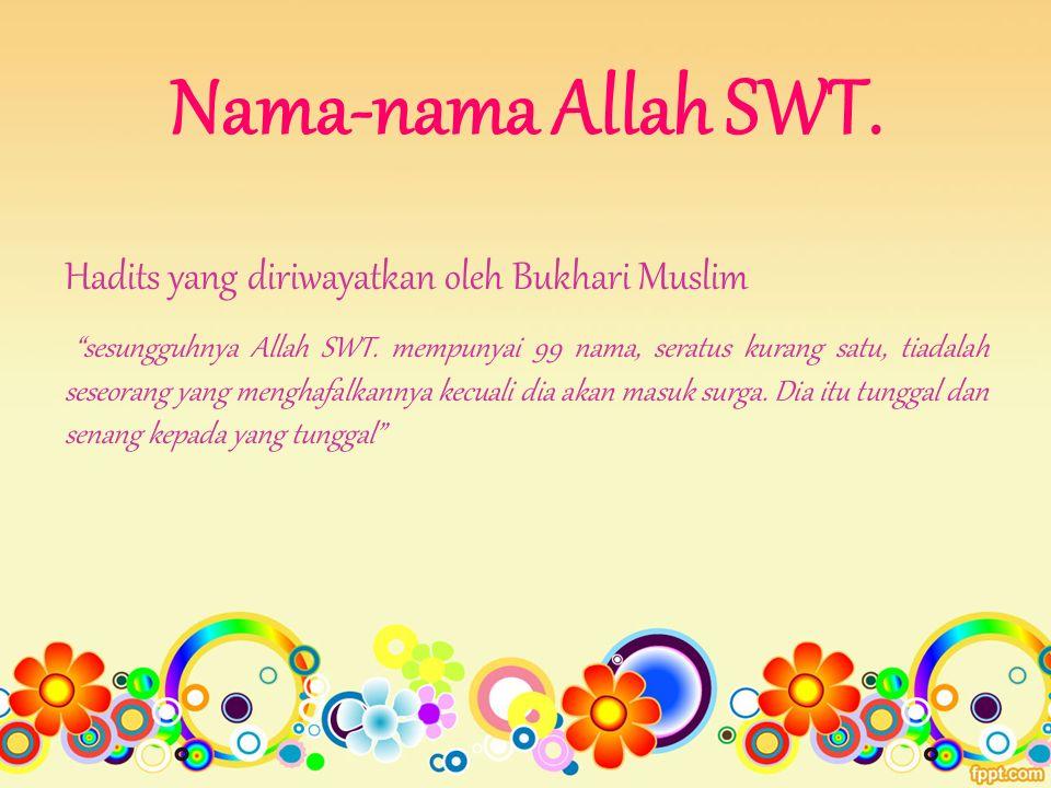 Nama-nama Allah SWT.
