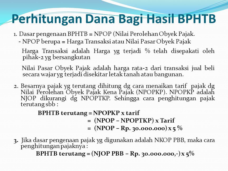 Perhitungan Dana Bagi Hasil BPHTB