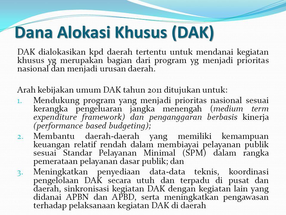 Dana Alokasi Khusus (DAK)