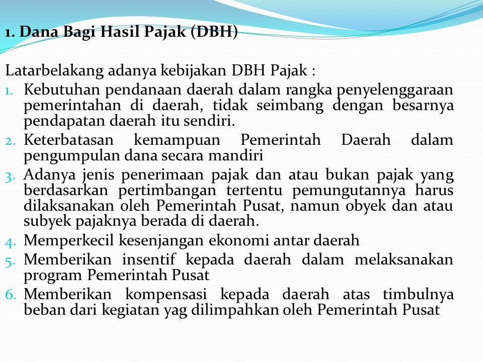 1. Dana Bagi Hasil Pajak (DBH)
