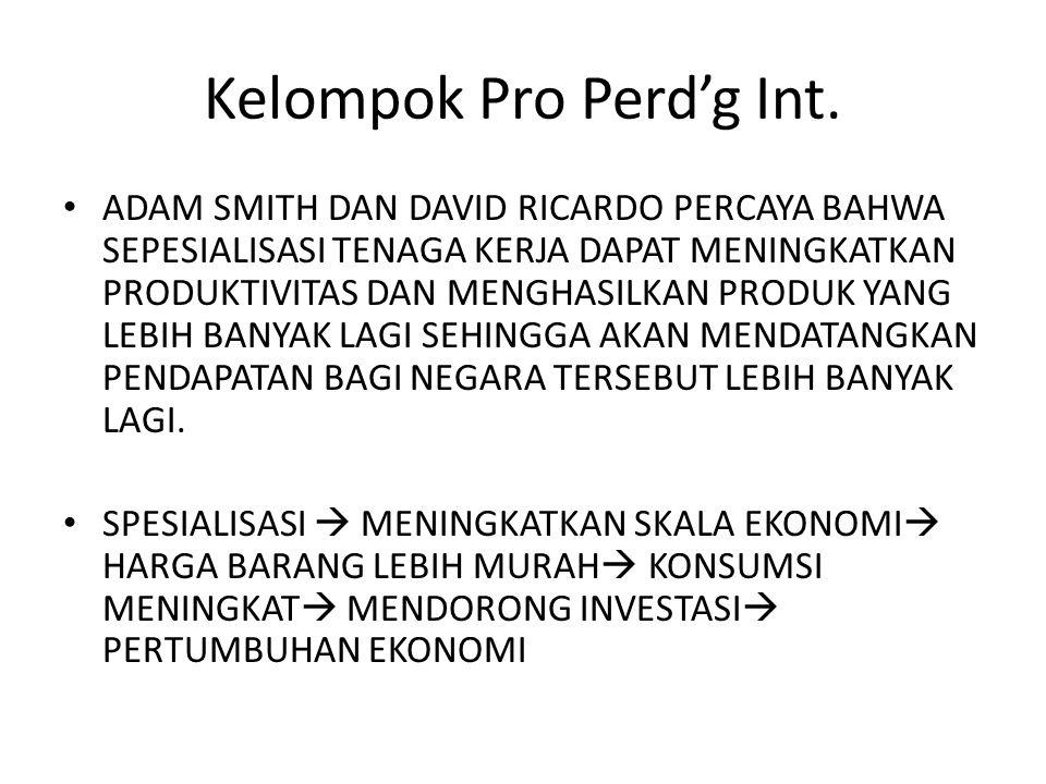 Kelompok Pro Perd'g Int.