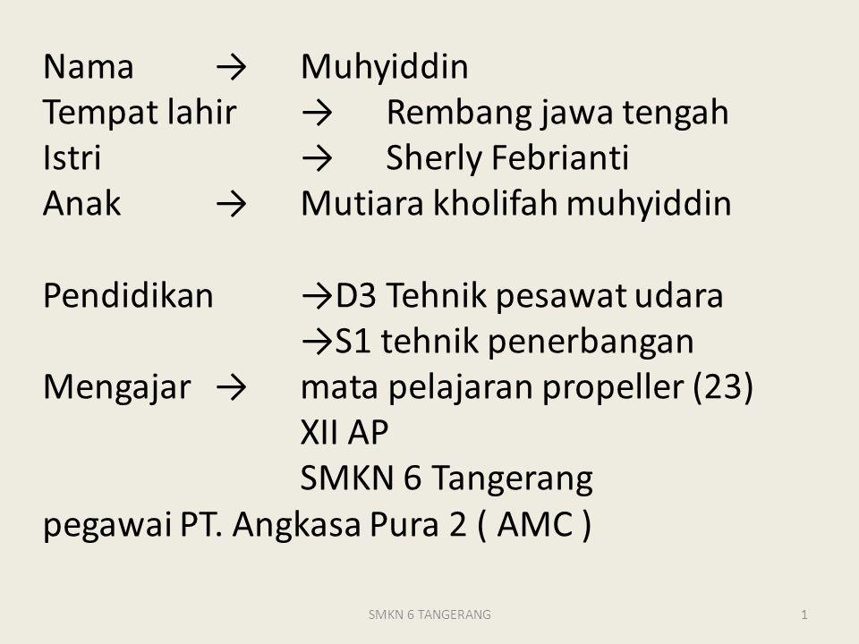 Nama. →. Muhyiddin Tempat lahir. →. Rembang jawa tengah Istri. →
