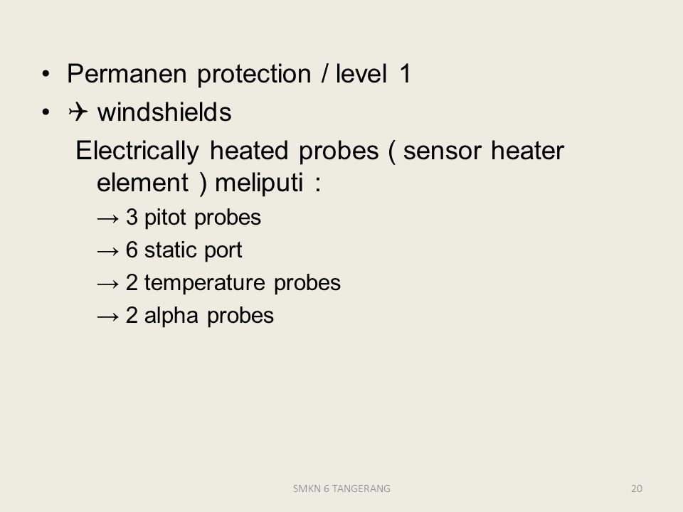 Permanen protection / level 1  windshields
