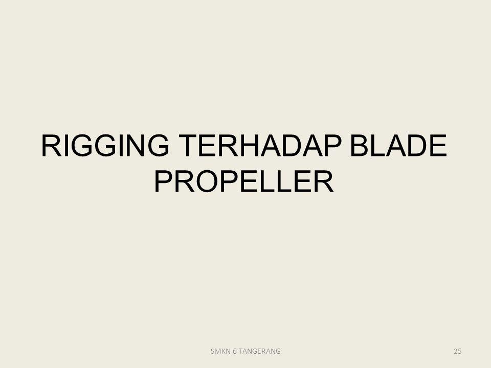 RIGGING TERHADAP BLADE PROPELLER
