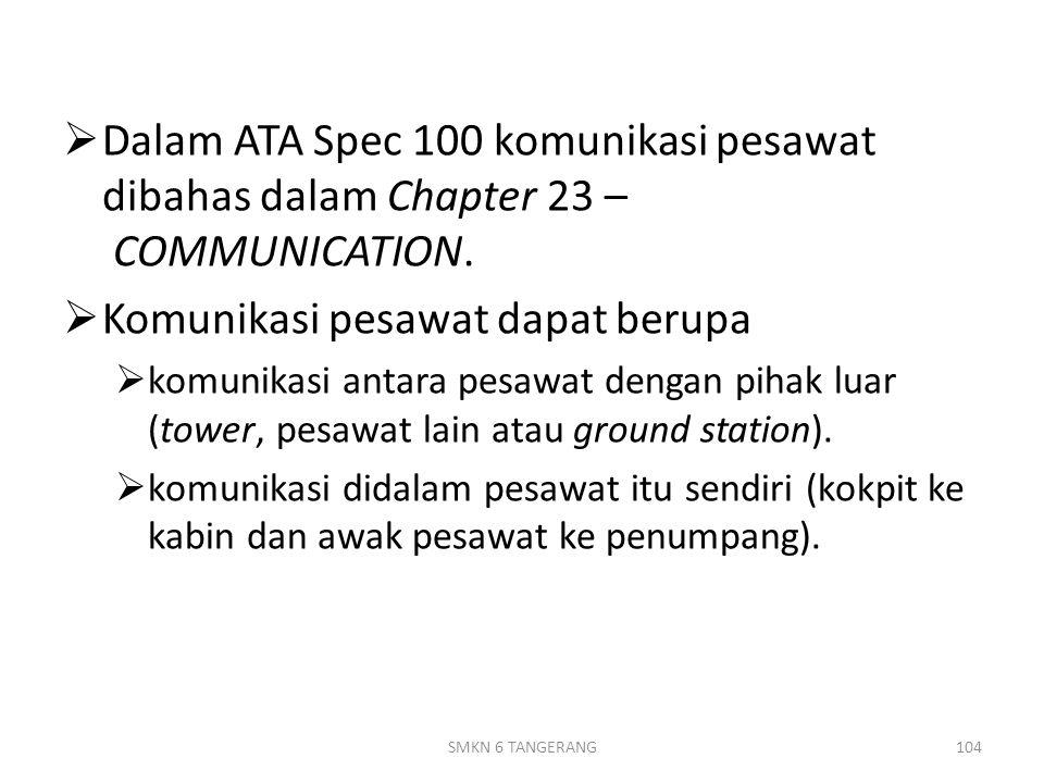 Komunikasi pesawat dapat berupa