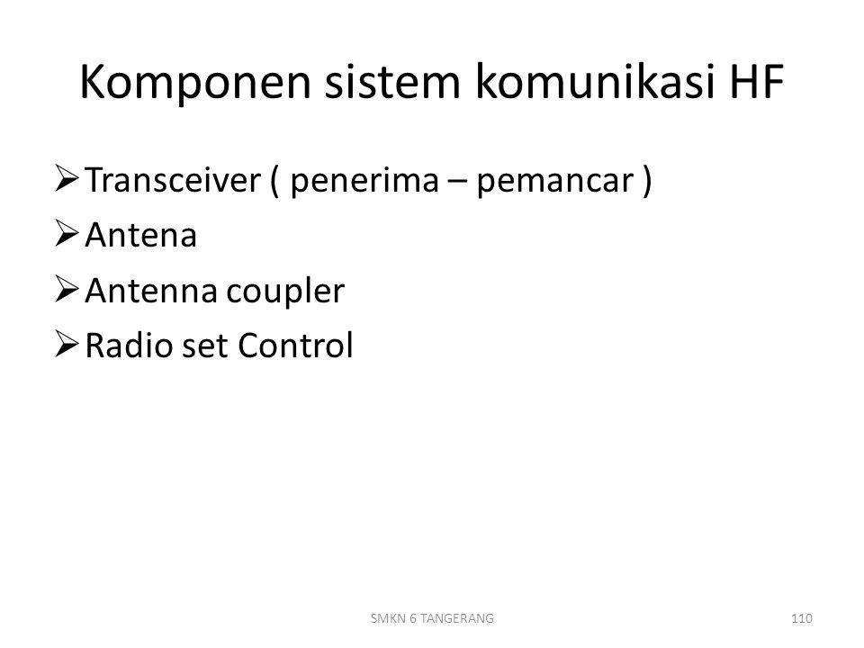 Komponen sistem komunikasi HF