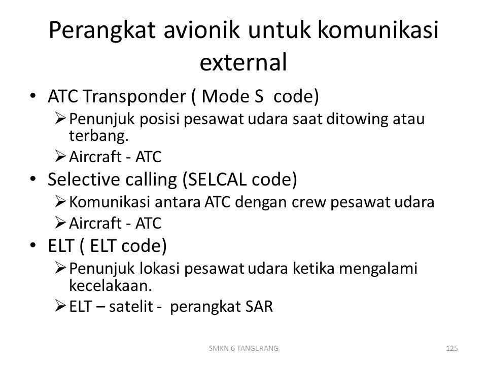 Perangkat avionik untuk komunikasi external