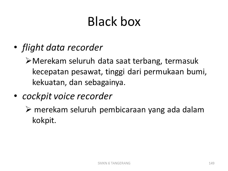Black box flight data recorder cockpit voice recorder