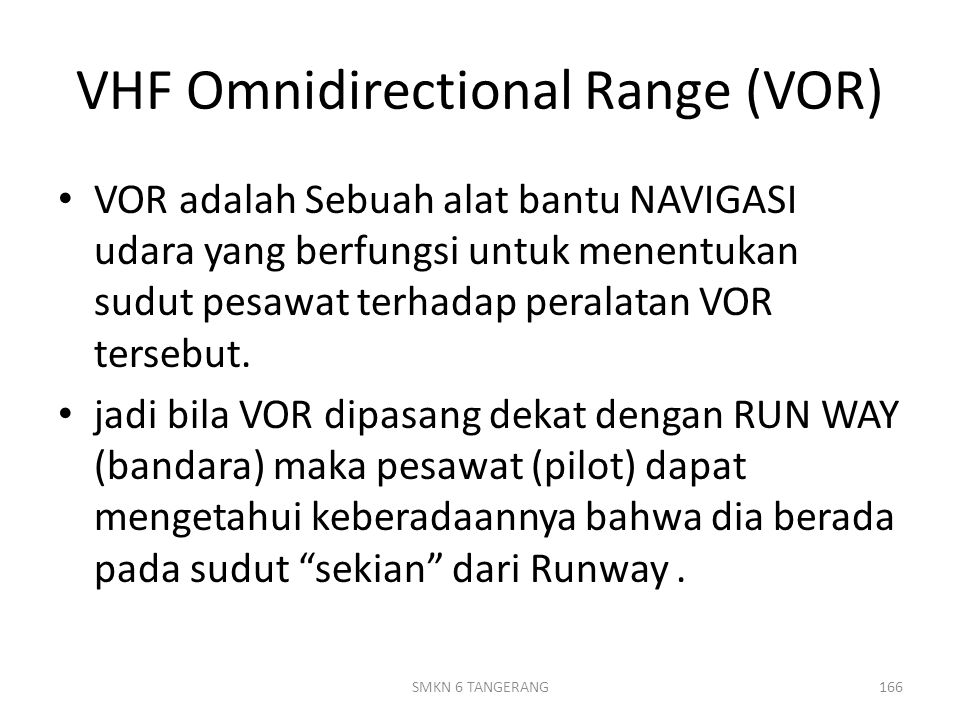 VHF Omnidirectional Range (VOR)