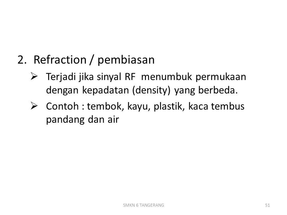 Refraction / pembiasan