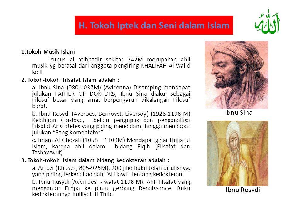H. Tokoh Iptek dan Seni dalam Islam