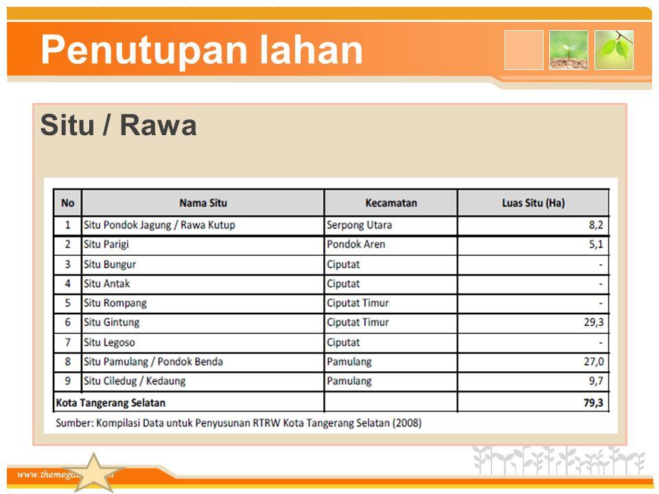 Penutupan lahan Situ / Rawa