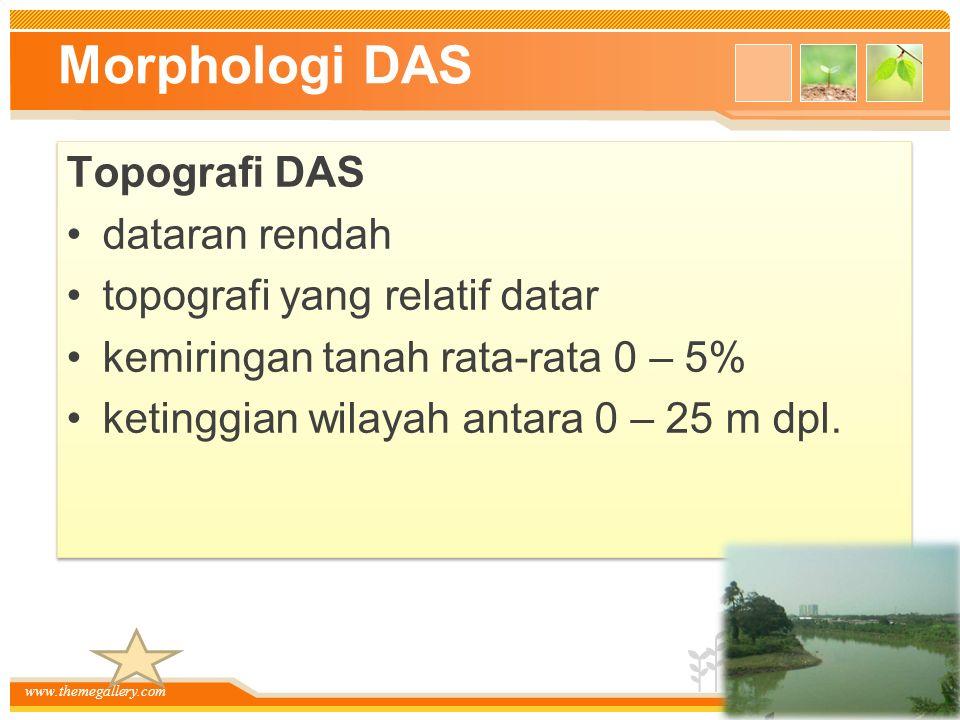 Morphologi DAS Topografi DAS dataran rendah
