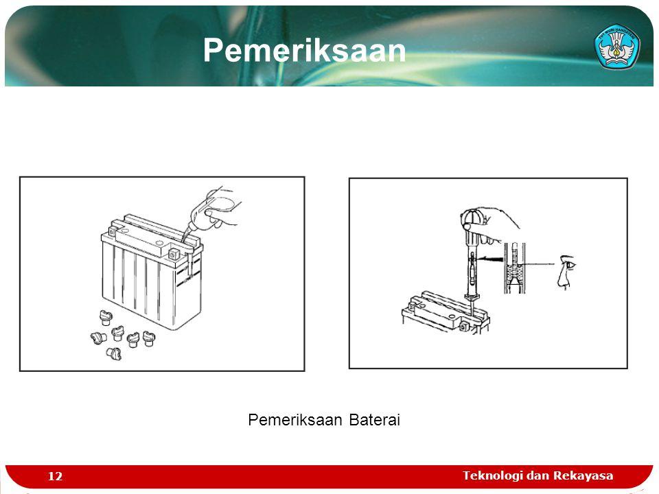 Pemeriksaan Pemeriksaan Baterai Teknologi dan Rekayasa