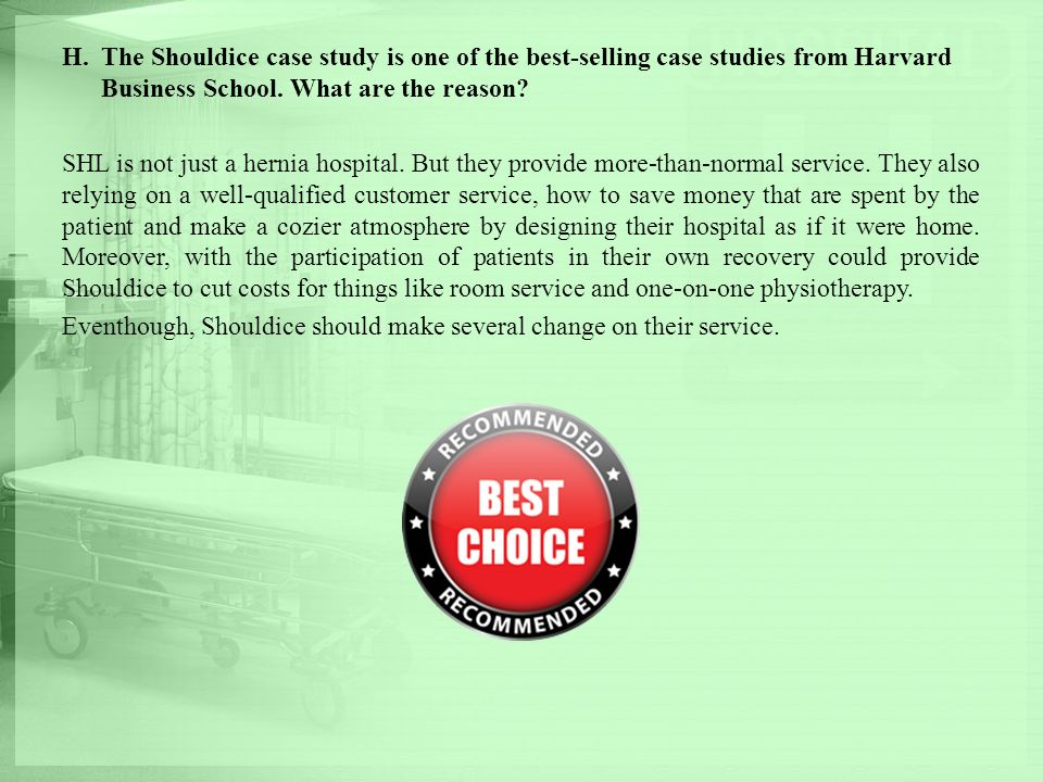 how successful is the shouldice hospital