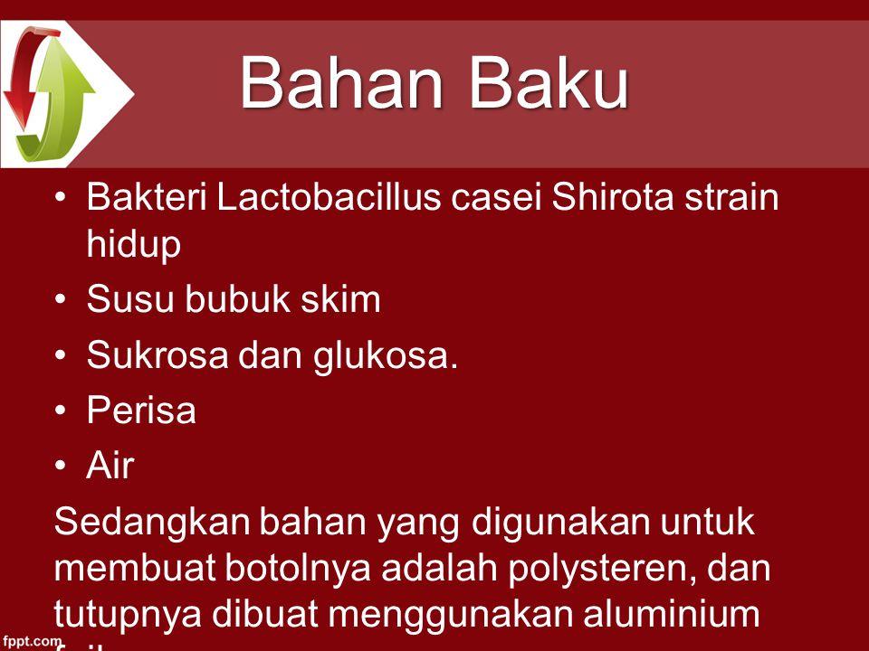 Bahan Baku Bakteri Lactobacillus casei Shirota strain hidup
