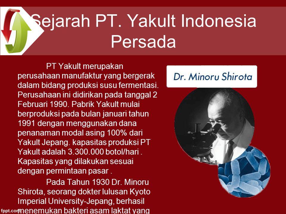 Sejarah PT. Yakult Indonesia Persada