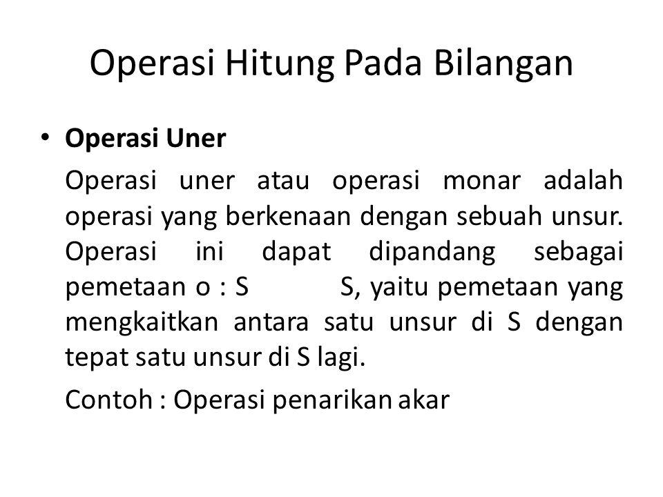 Operasi Hitung Pada Bilangan