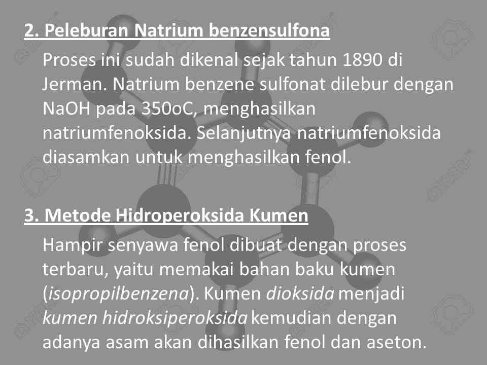 2. Peleburan Natrium benzensulfona