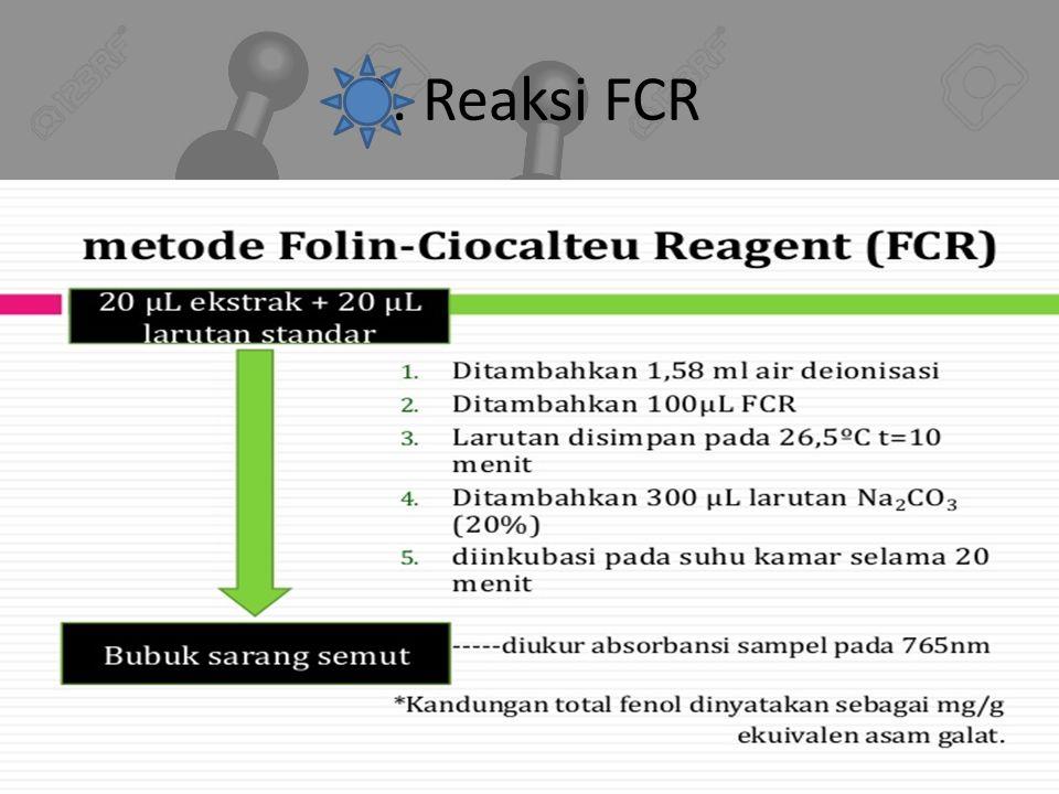 3. Reaksi FCR