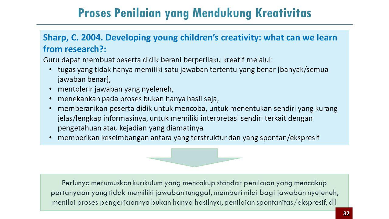 Proses Penilaian yang Mendukung Kreativitas