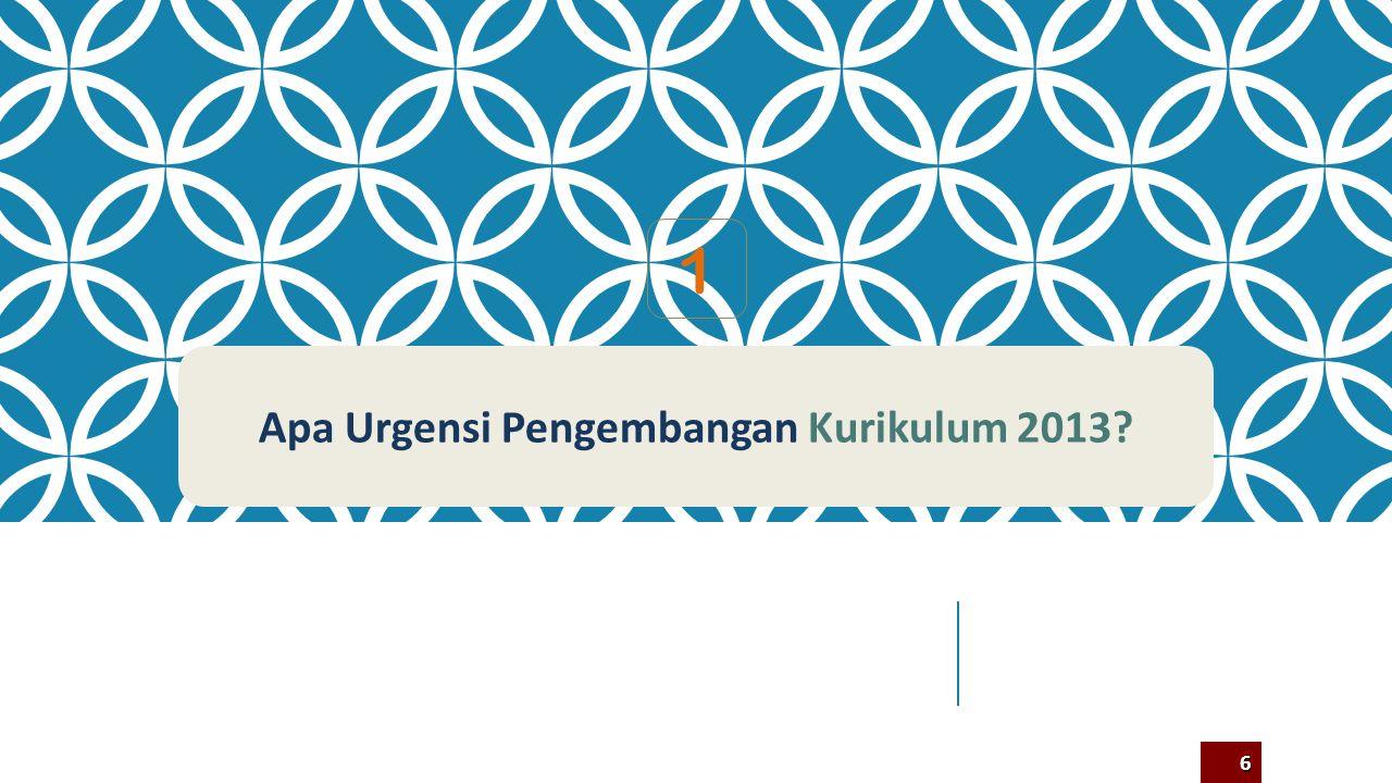 Apa Urgensi Pengembangan Kurikulum 2013