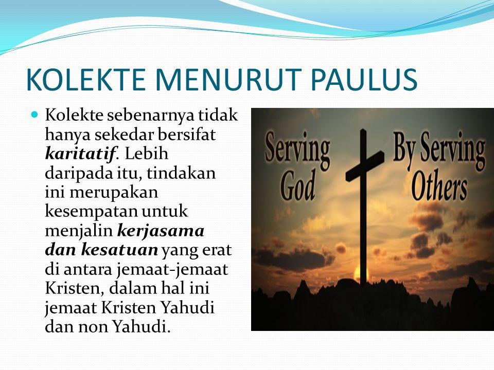KOLEKTE MENURUT PAULUS