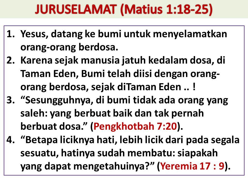 JURUSELAMAT (Matius 1:18-25)