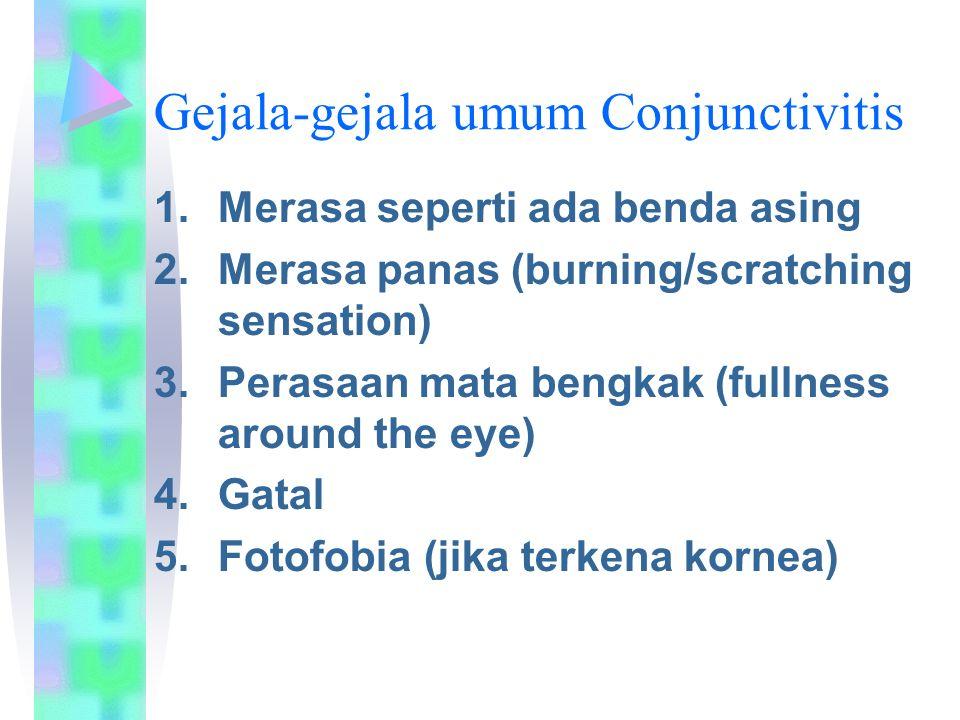 Gejala-gejala umum Conjunctivitis
