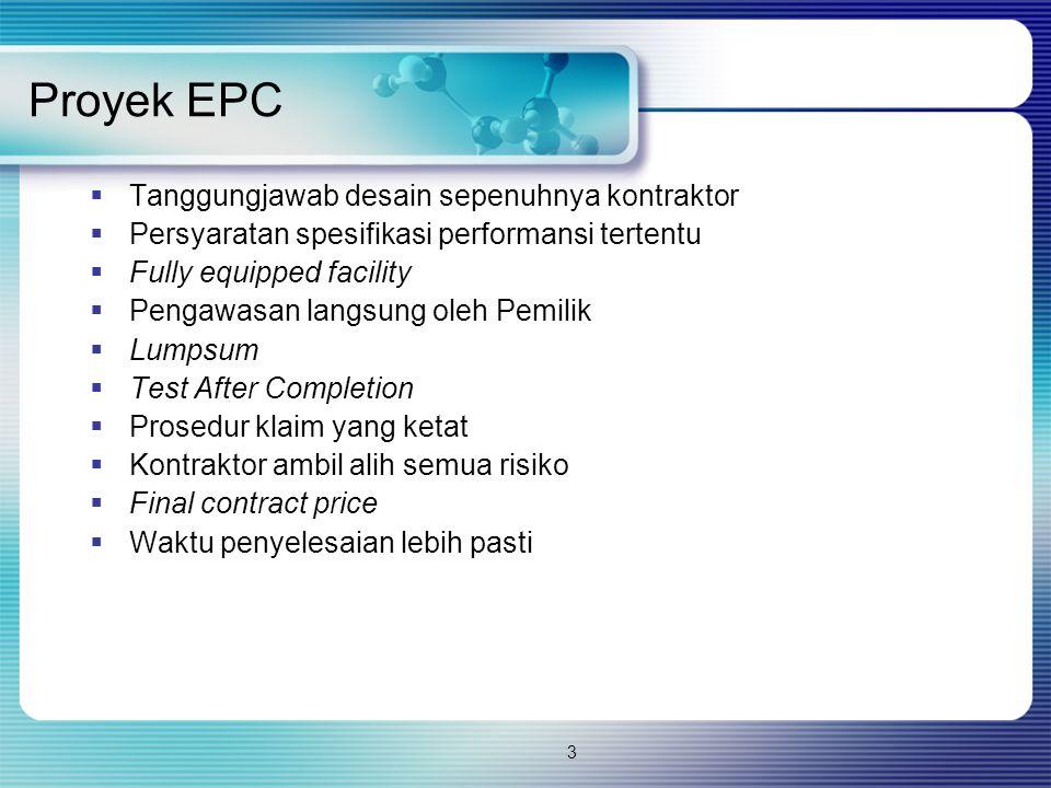 Proyek EPC Tanggungjawab desain sepenuhnya kontraktor