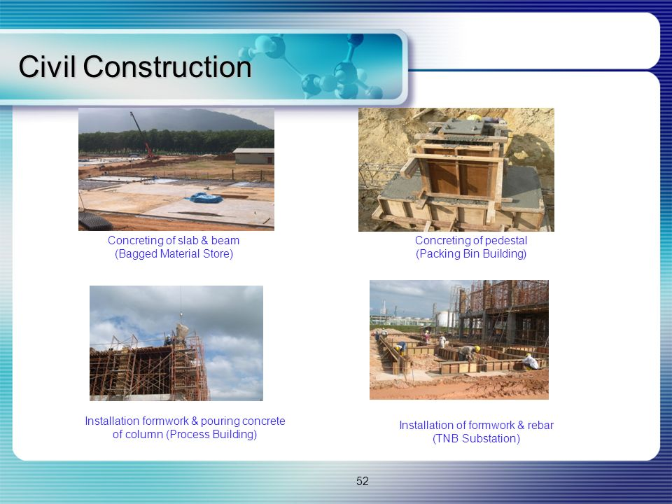 Civil Construction Concreting of slab & beam (Bagged Material Store)
